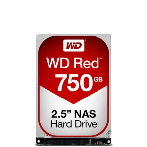 WESTERN DIGITAL WD Red 750GB SATA 6Gb/s 16MB Cache Internal 6,4cm 2,5Zoll 24x7 IntelliPower optimized for SOHO NAS systems NASware HDD Bulk (WD7500BFCX)