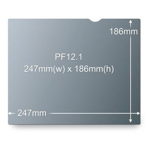 3M PF12.1 PRIVACY FILTER BLACK FOR 12,1IN / 30,7 CM / 4:3       IN ACCS (98044054025)