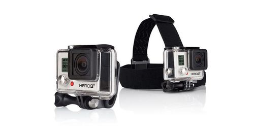 GoPro Head Strap + QuickClip - Støttesystem - for HD HERO; HD HERO2; HERO+ LCD; HERO3; HERO3+; HERO4 Session; HERO6; HERO7 (ACHOM-001)