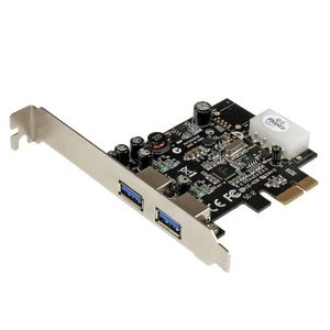 STARTECH 2 Port PCI Express SuperSpeed USB 3.0 Card Adapter with UASP - LP4 Power (PEXUSB3S25)