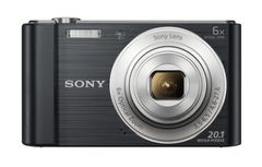SONY DSCW810B digital camera 20M CCD 26mm 6x IS 2.7inch 720p black