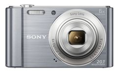 SONY DSCW810S digital camera 20M CCD 26mm 6x IS 2.7inch 720p silver