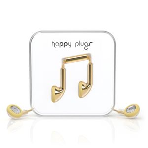 HAPPY PLUGS GOLD 3,5MM (WITH MIC + ADAPTER) (7727)