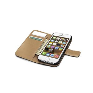 CELLY IPHONE 5/5S BLACK PU WALLET CASE WALLY185 (WALLY185)