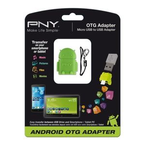 PNY OTG Robot - On The Go - USB adaptor (OTG-A2G-EF)