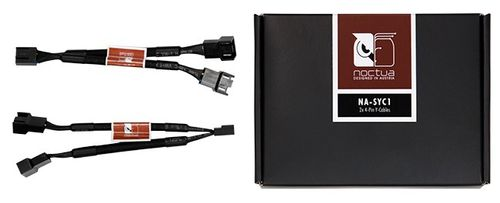 NOCTUA NA-SYC1 Sleeved Y-Cable2x Y-Cable/ Splitter,  4-pin PWM Fans. Lenght: 115 mm (NA-SYC1)