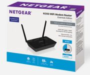 NETGEAR N300 WLAN MODEM ROUTER ESSENTIALS EDITION BLACK         IN PERP (D1500-100PES)