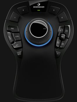 3DCONNEXION SpaceMouse Pro WirelessWireless professional 3D mouse - 15 programmable buttons - OSD - 6 DoF (3DX-700049)