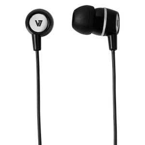 VIDEO SEVEN V7 EARBUDS WITH INLINE MIC BLK 3.5MM PLUG FOR MOBILE DEVICES ACCS (HA110-BLK-12EB)