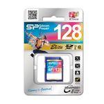 SILICON POWER SD Card 128GB UHS-1 (Elite Class) 10 Retail (SP128GBSDXAU1V10)