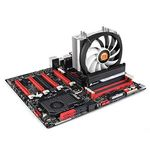 THERMALTAKE Frio Silent 14 CPU-Cooler supports all current Intel and AMD platforms up to 165W 140mm fan 3pcs 8mm (CL-P002-AL14BL-B)