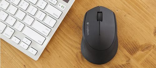LOGITECH M280 WIRELESS MOUSE BLACK - 2.4GHZ - EER2            IN WRLS (910-004291)