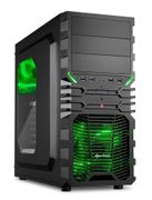 Sharkoon VG4-W ATX Midi Tower Green, 2x USB3.0, 2x USB2.0