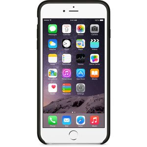APPLE Baksidedeksel for mobiltelefon - lær - svart - for iPhone 6 Plus, 6s Plus (MGQX2ZM/A)