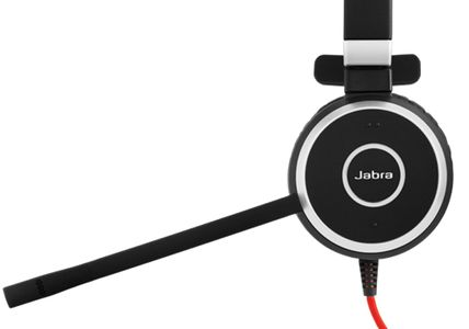 JABRA EVOLVE 40 MS Mono USB Headband Noise cancelling USB connector with mute-button and volume control on the cord (6393-823-109)
