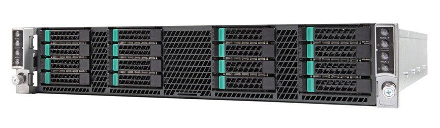 INTEL - Server Chassis H2216XXKR2 16x 2 5 inch hot-swap drive carriers 2x  1600W common redundant power supply 2x power distribution