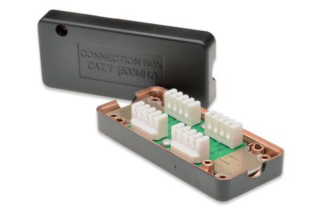 DIGITUS JUNCTION BOX CAT 7 600 MHZ FULLY SHIELDED 26X35X80 MM ACCS (DN-93907-1)