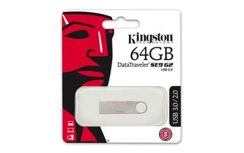 KINGSTON 64GB USB3.0 DataTraveler SE9 G2 (DTSE9G2/64GB)