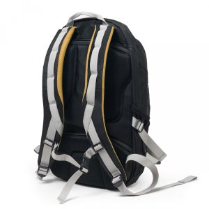 DICOTA Backpack Active 14-15.6 Black/ Yellow - qty 1 (D31048)