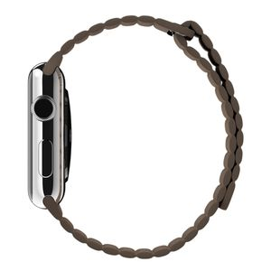 APPLE Watch 42 mm Lederarmband mit Schlaufe medium hellbraun (MJ522ZM/A)