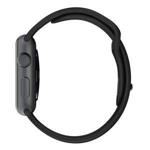 APPLE Watch 42 mm Sport Band schwarz Schlieáe space grau (MJ4N2ZM/A)