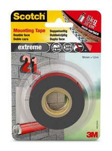 3M Scotch 40021915 Extreme Strong Mounting Tape 19mmx1,5m (40021915)