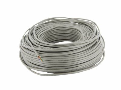 4World UTP Installation Cable, 4x2, Cat 5e, 100m wire, CU - pure copper, gray (06552)