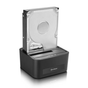 SHARKOON QUICKPORT XT DUO CLONE HDD DOCKING STATION 3.5/2.5IN ACCS (4044951016815)