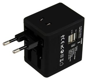 FSP/Fortron Travel Adapter NT 580 Svart UK/ USA/ AUS/ EU (FSPNT580BK)