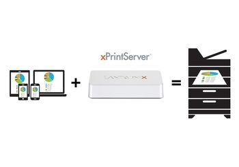 LANTRONIX XPRINTSERVER OFFICE EDITION APPLE AIRPRINT GOOGLE CLOUDPRINT IN CTLR (XPS1002FC-02-S)