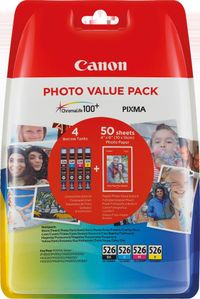 CANON CLI-526 C/M/Y/BK PHOTO VALUE BL WITH SECURITY SUPL (4540B018)