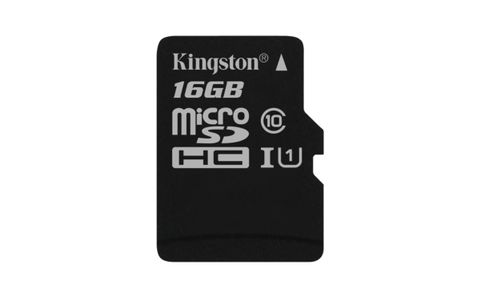 KINGSTON 16GB MICROSDHC CANVAS SELECT 80R CL10 UHS-I SP W/O ADAPTER EXT (SDCS/16GBSP)