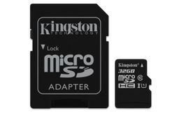 KINGSTON 32GB MICROSDHC CANVAS SELECT 80R CL10 UHS-I CARD + SD ADAPTER EXT