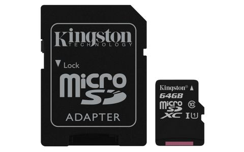 KINGSTON Flash card Micro-SD 64GB Canvas (SDCS/64GB)