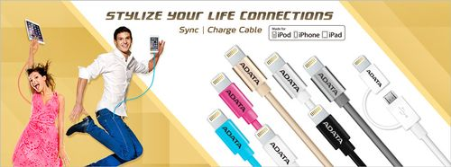 A-DATA Lightning & Sync Cable white (AMFIPL-100CM-CWH)