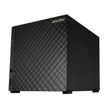 ASUSTOR AS3204T 4 bay NAS Intel Celeron Quad-Core 2GB DDR3L 2GB DDR3L GbE x1 USB 3.0 WoL AES-NI hardware encryption (AS3204T)
