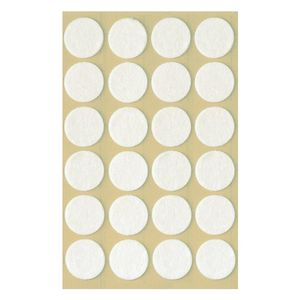 AVERY Felt Pads Round,  ?18mm White, 24 pads/pack (3707)