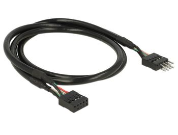 DELOCK USB 2_0 Pin header Extension Cable_ 10 pin _ male/ female_ 50 cm (83874)