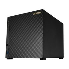 ASUSTOR ASUSTOR AS3204T V2 4-bay NAS Tower Intel Celeron Quad-Core 2GB DDR3L GbEx2 USB3.0 WoL System Sleep Mode AES-NI hardware encryption (AS3204T V2)