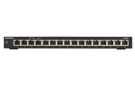NETGEAR 16PT GE UNMANAGED SWITCH SOHO IN CPNT (GS316-100PES)