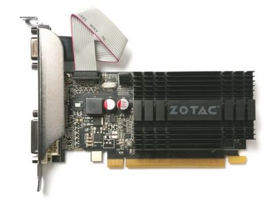 ZOTAC GeForce GT 710, 1GB DDR3 (64 Bit), HDMI, DVI, VGA (ZT-71301-20L)