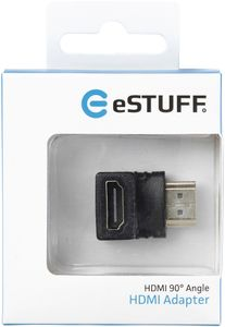 eSTUFF HDMI 90ø Angled Adapter (ES84266-BLACK)
