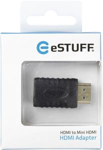 eSTUFF Mini HDMI Adapter (ES84264-BLACK)