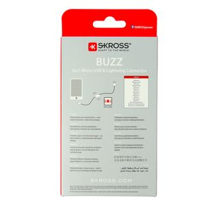 SKROSS Buzz 2in1 Micro USB & Lightning Connector 1m (2700212)
