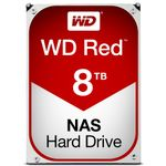 WESTERN DIGITAL WD Red 8TB SATA 6Gb/s 256MB Cache Internal 3.5inch 24x7 5400Rpm optimized for SOHO NAS systems 1-8 Bay HDD Bulk
