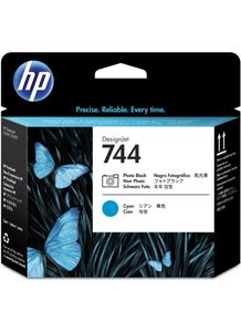 HP 744 Printhead Photo Black & Cyan (F9J86A)