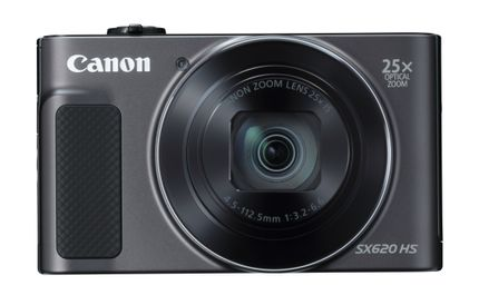 CANON Digital Camera PowerShot SX620 HS Black 20.2 megapixel 18x optical Zoom with Ultra-Wide Full HD Movies Wlan NFC (1072C002)