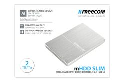 FREECOM MHDD Mobile Drive Metal Slim USB 3.0 2TB, Silver (56381*4)