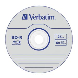 VERBATIM BD-R SL DATALIFE 25GB 6X 5PK JEWEL CASE NO ID SUPL (43836)
