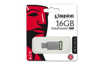 KINGSTON 16GB USB 3.0 DataTraveler 50 Metal/ Green (DT50/16GB)